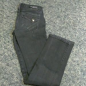 Guess Starlet Skinny Leg 27 Black Zippers